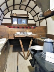 The interior of a sheepwagon