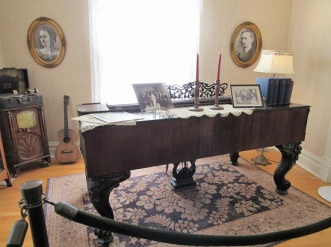 The Booth home piano
