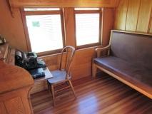 Work desk in the train car