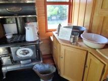 The train car kitchen