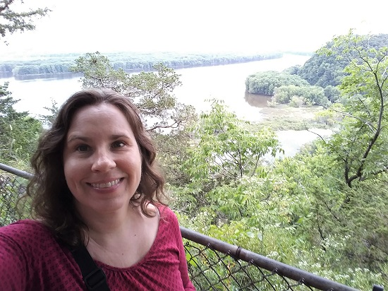 Me at the Mississippi River overlook