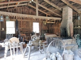 Hoover's father's blacksmith shop (recreated)