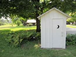 Hoover's outhouse - a replica