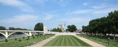 The view from the George Rogers Clark Memorial