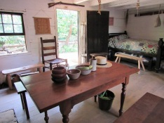 Interior of the Lincoln Boyhood cabin