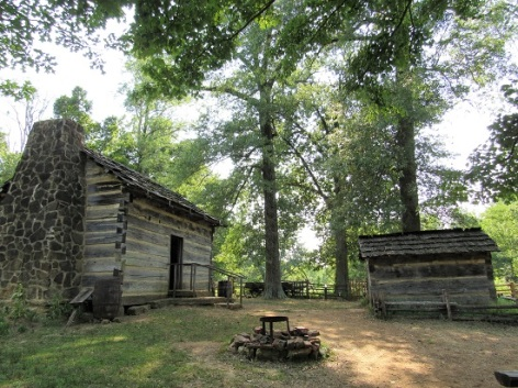 Exterior of the Lincoln Boyhood cabin