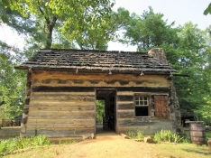 A recreation of the Lincoln Boyhood cabin