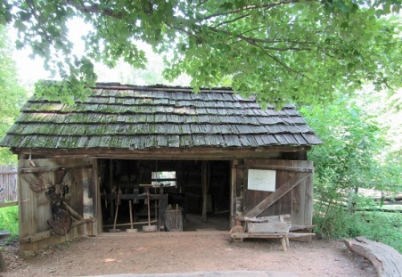 The workshop at Lincoln's Boyhood cabin