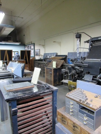 Printing presses at the Epitaph