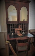 A writing desk in the home