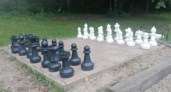 Giant chess but no one to play with me!