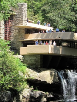Close up of Fallingwater