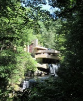 Fallingwater over Bear Run Waterfall