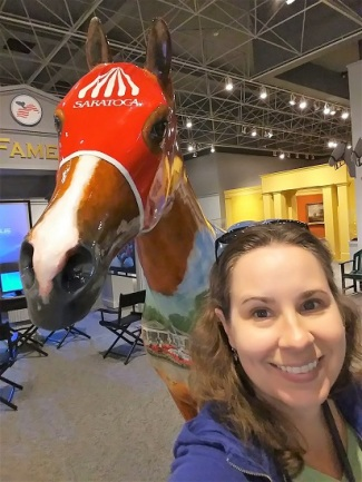 Me at the Museum of Horse Racing and Hall of Fame