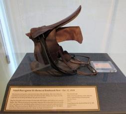 One of Man O' War's saddles