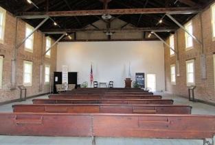 The interior of the rebuilt Wesleyan Chapel