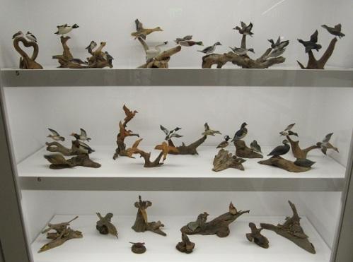 Carved birds